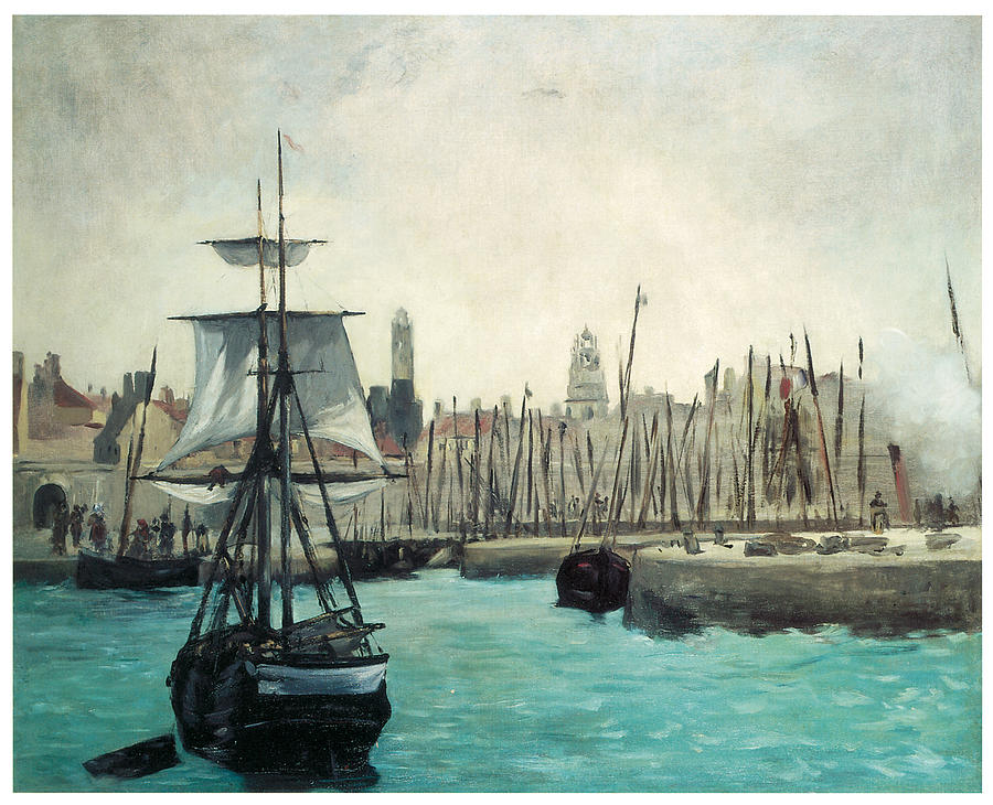 The Port At Calais Painting  - The Port At Calais Fine Art Print