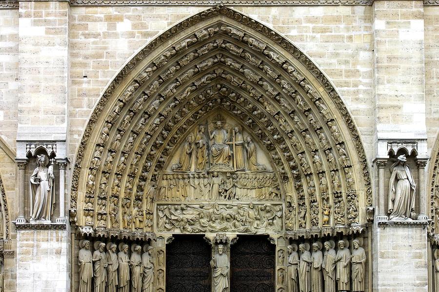 The Portal Of The Last Judgement Of Notre Dame De Paris Photograph