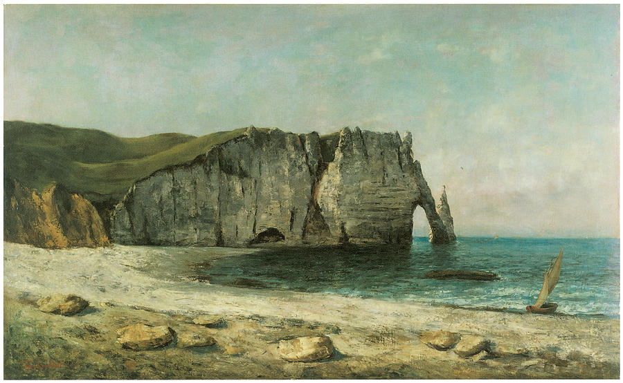 Gustave Courbet Painting - The Porte Daval At Etretat by Gustave Courbet