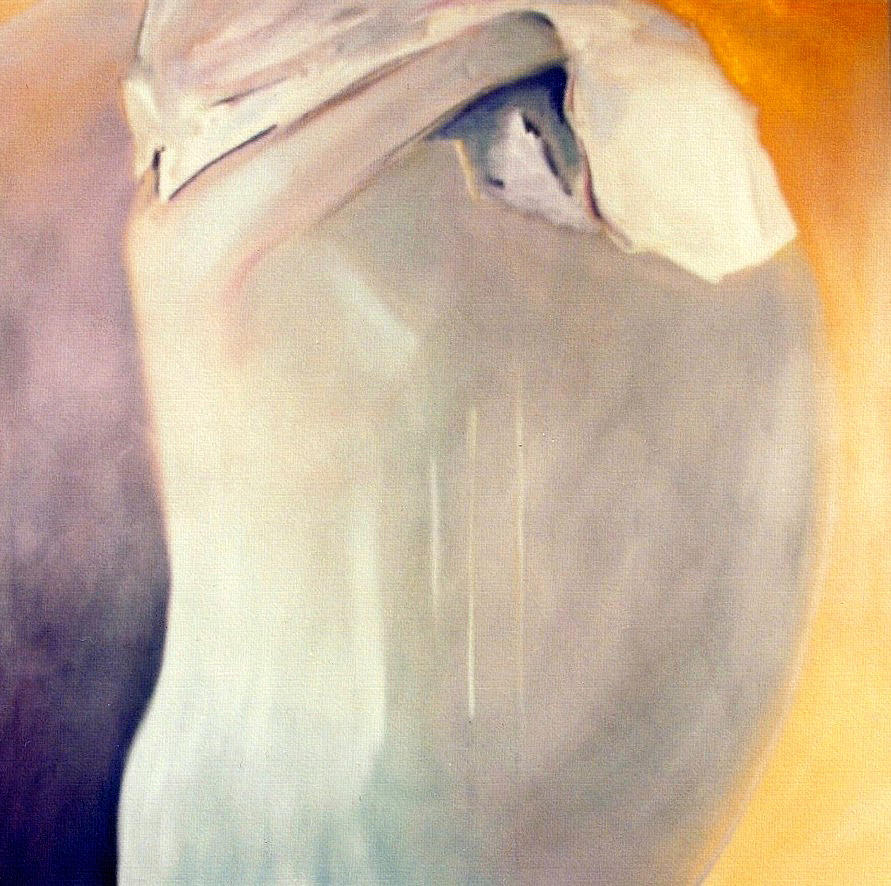 Female Painting - The Potential Of Death/birth by Jodie Marie Anne Richardson Traugott          aka jm-ART