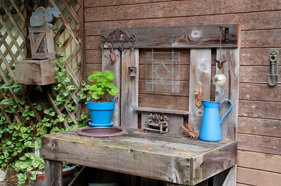 The Potting Bench Photograph By Geraldine Alexander