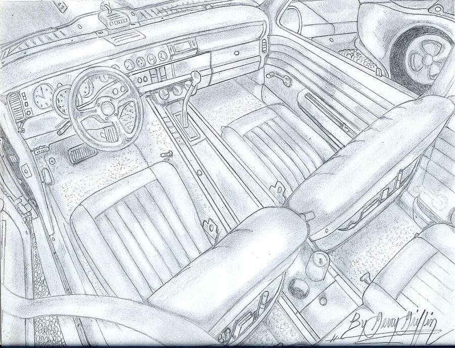 Race Car Drawing Drawing - The Power Of It All by Gerald Griffin
