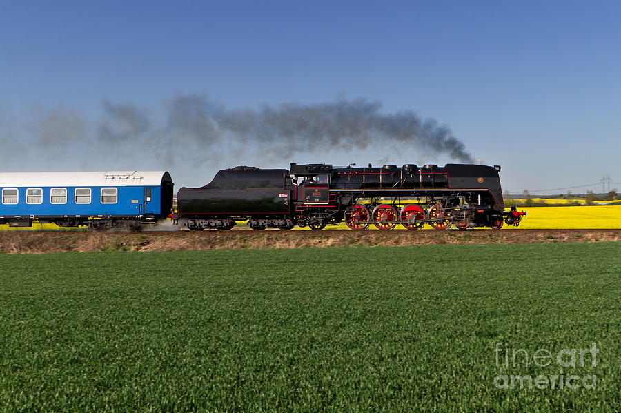 The Pride Of The Czech Locomotive Design Photograph  - The Pride Of The Czech Locomotive Design Fine Art Print