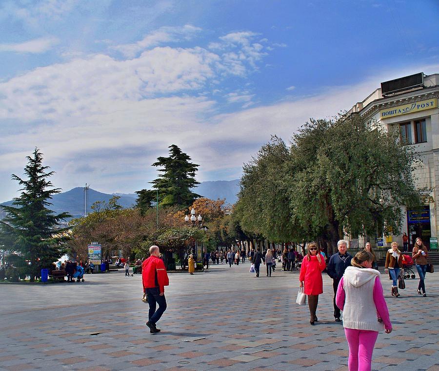 The Promenade Yalta   Photograph