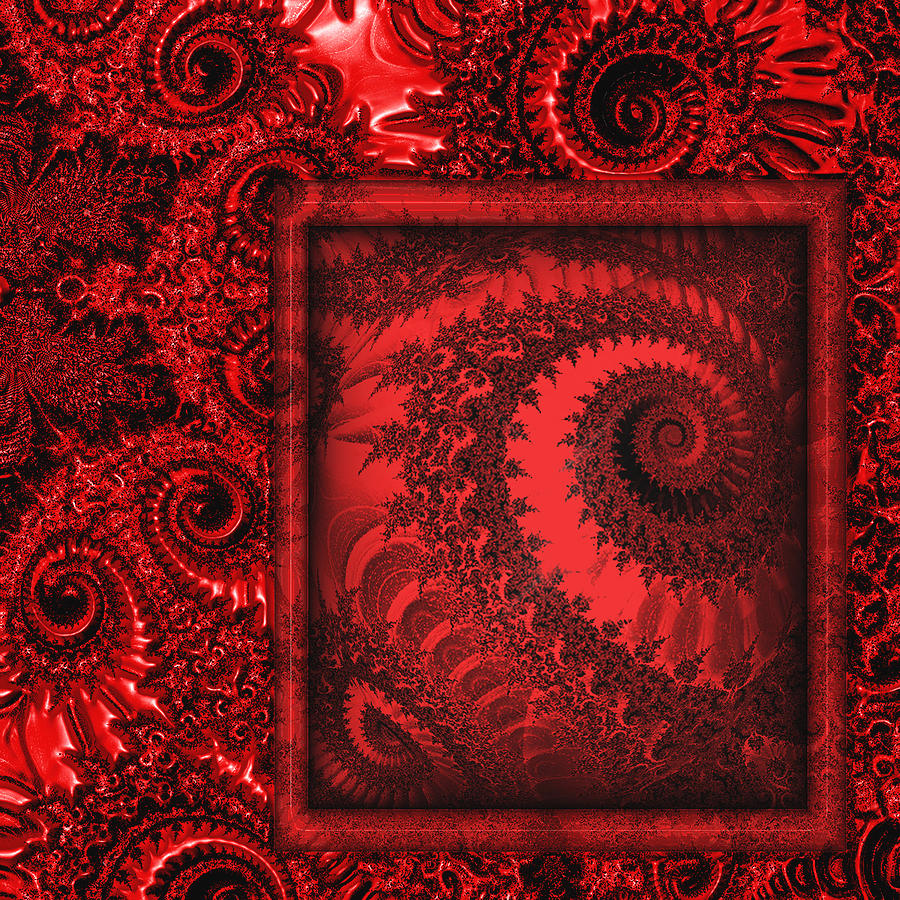 The Proper Victorian In Red  Digital Art