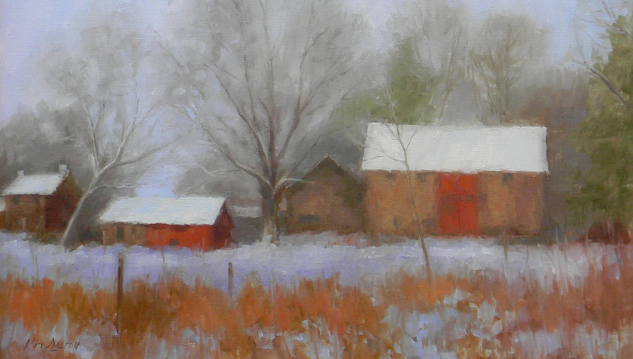 The Quiet Farm Bucks County Painting  - The Quiet Farm Bucks County Fine Art Print