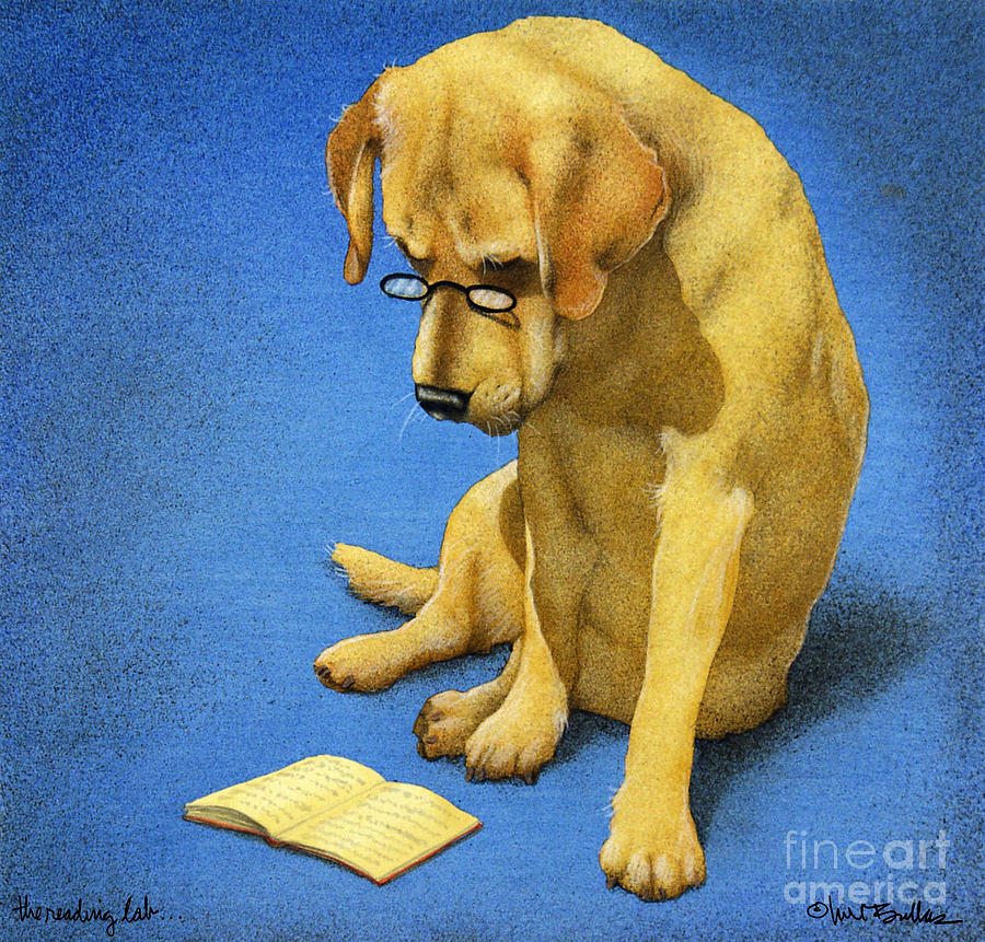 The Reading Lab... Painting  - The Reading Lab... Fine Art Print