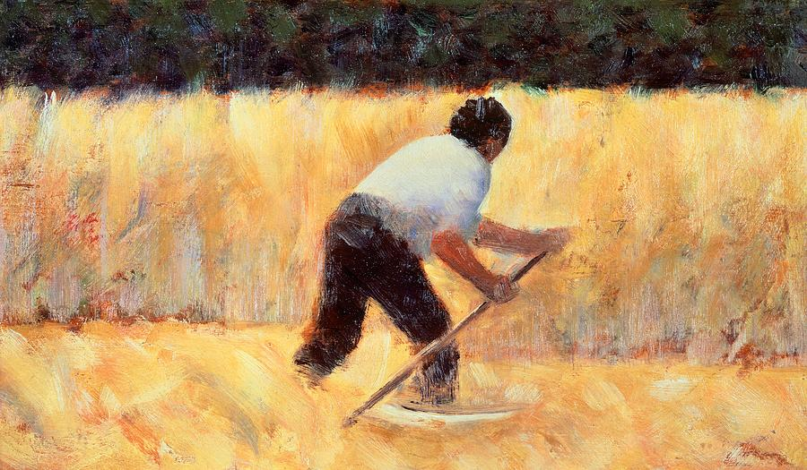 Art Painting - The Reaper by Georges Seurat