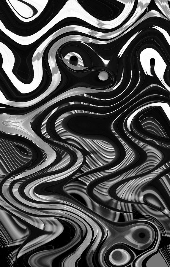 Abstract Photograph - The Recipe Is Black And White And Stir Gently by John  Bartosik
