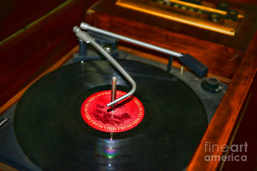 The Record Player Photograph  - The Record Player Fine Art Print