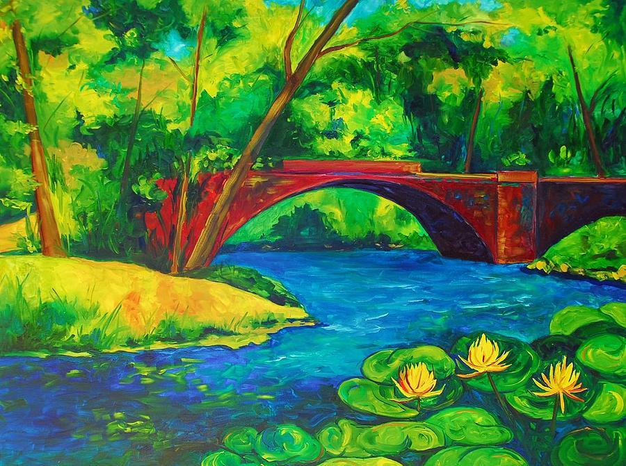 The Red Bridge Painting