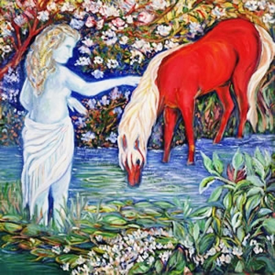The Red Pony   Art Deco Painting