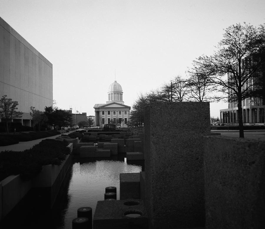 Norfolk Photograph - The Reflecting Pool And Memorial Of General Macarthur by Thomas D McManus