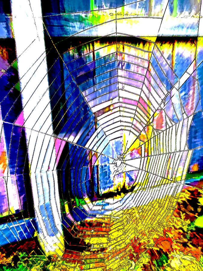 Web Digital Art - The Refracted Cobweb by Steve Taylor