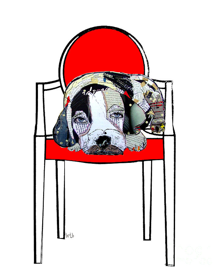 The Retro Chair Beagle Painting  - The Retro Chair Beagle Fine Art Print