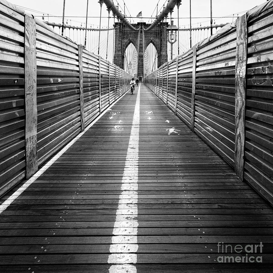 The Riders Brooklyn Bridge Photograph