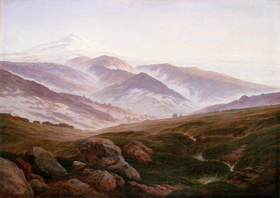 Caspar Painting - The Riesengebirge  by Philip Ralley
