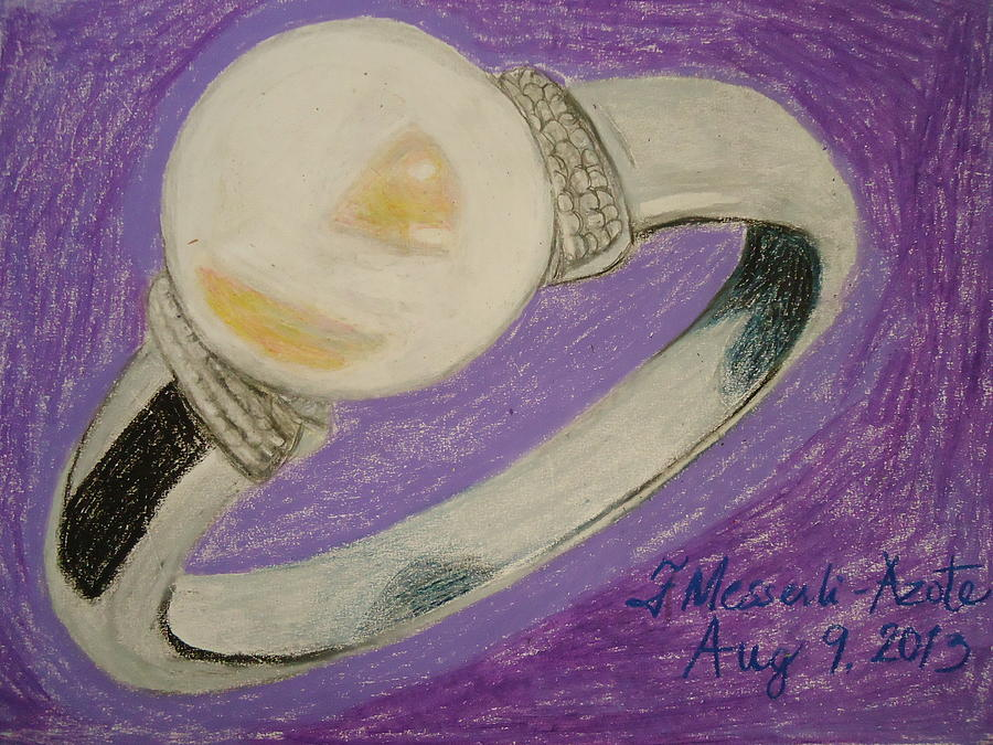 The Ring  Drawing - The Ring by Fladelita Messerli-
