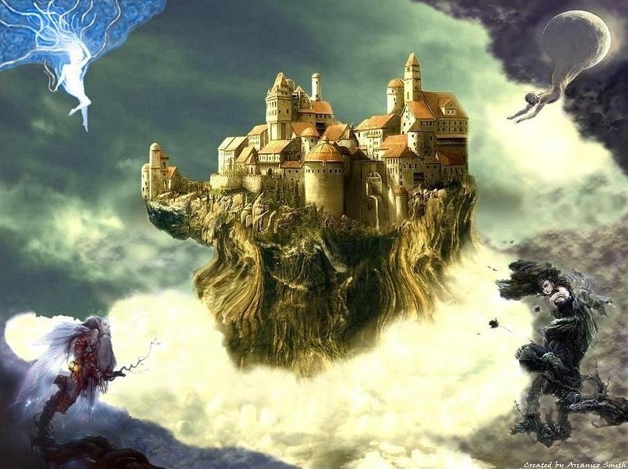 Castle Digital Art - The Rise by Arcanico Luca Smith Acquaviva