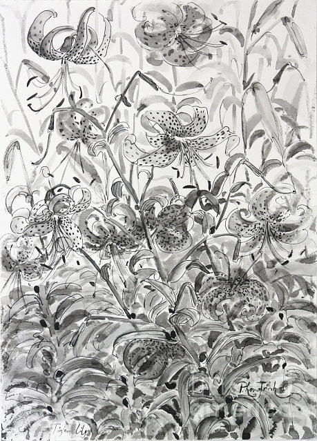 The Rise Of The Tiger Lilies Painting