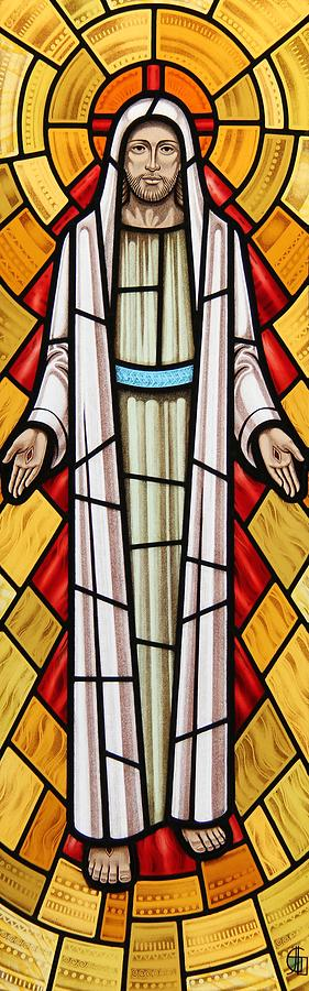 The Risen Christ Glass Art  - The Risen Christ Fine Art Print