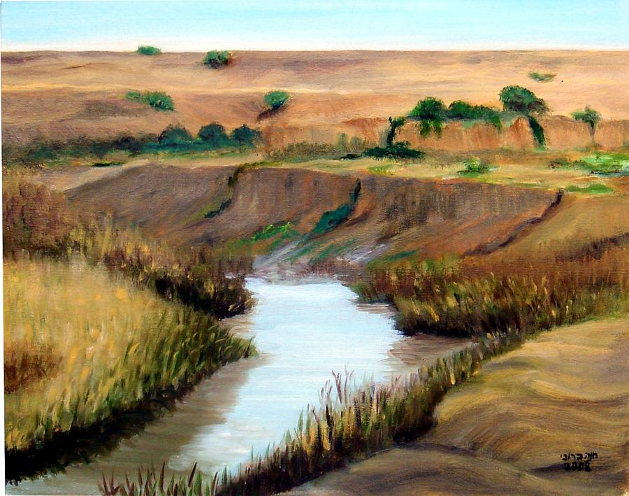 the river Jordan Painting  - the river Jordan Fine Art Print