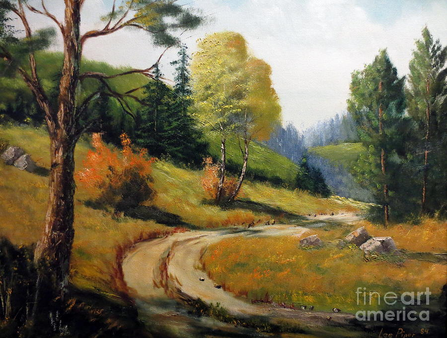 The Road Not Taken Painting  - The Road Not Taken Fine Art Print