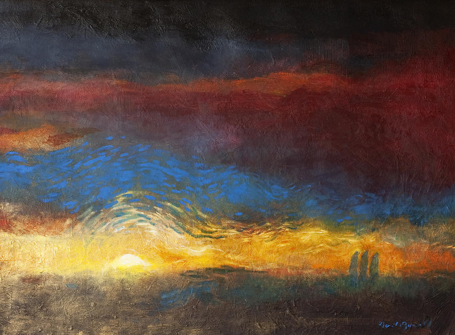 The Road To Emmaus Painting - The Road To Emmaus by Daniel Bonnell