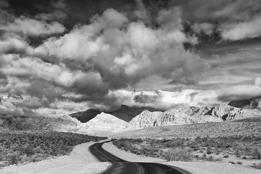 The Road To Turtlehead Peak Las Vegas Strip Nevada Red Rock Canyon Mojave Desert Photograph
