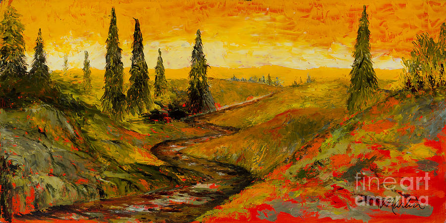 The Road To Tuscany Painting