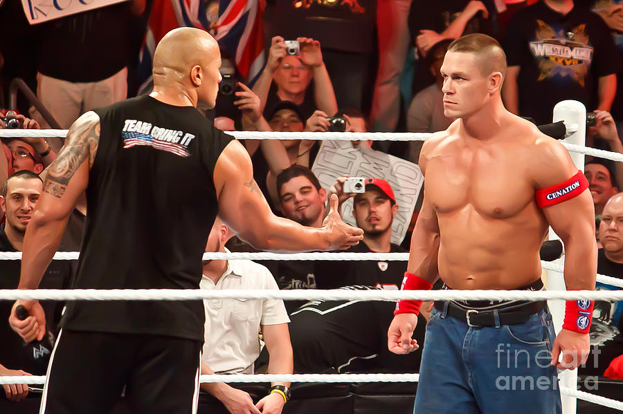 The Rock And John Cena Photograph  - The Rock And John Cena Fine Art Print