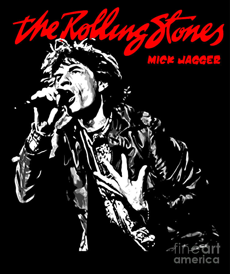 The Rolling Stones No01 Digital Art