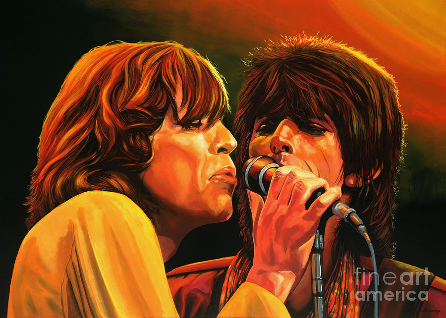 The Rolling Stones Painting - The Rolling Stones by Paul Meijering
