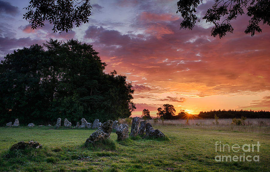 The Rollright Stones Sunrise Photograph
