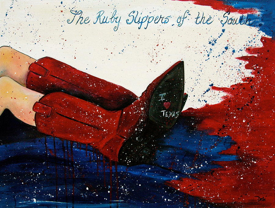 Ruby Slippers Of The South Painting - The Ruby Slippers Of The South by Debi Starr