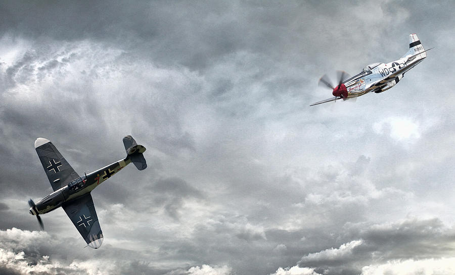 P-51 Digital Art - The Rush by Peter Chilelli