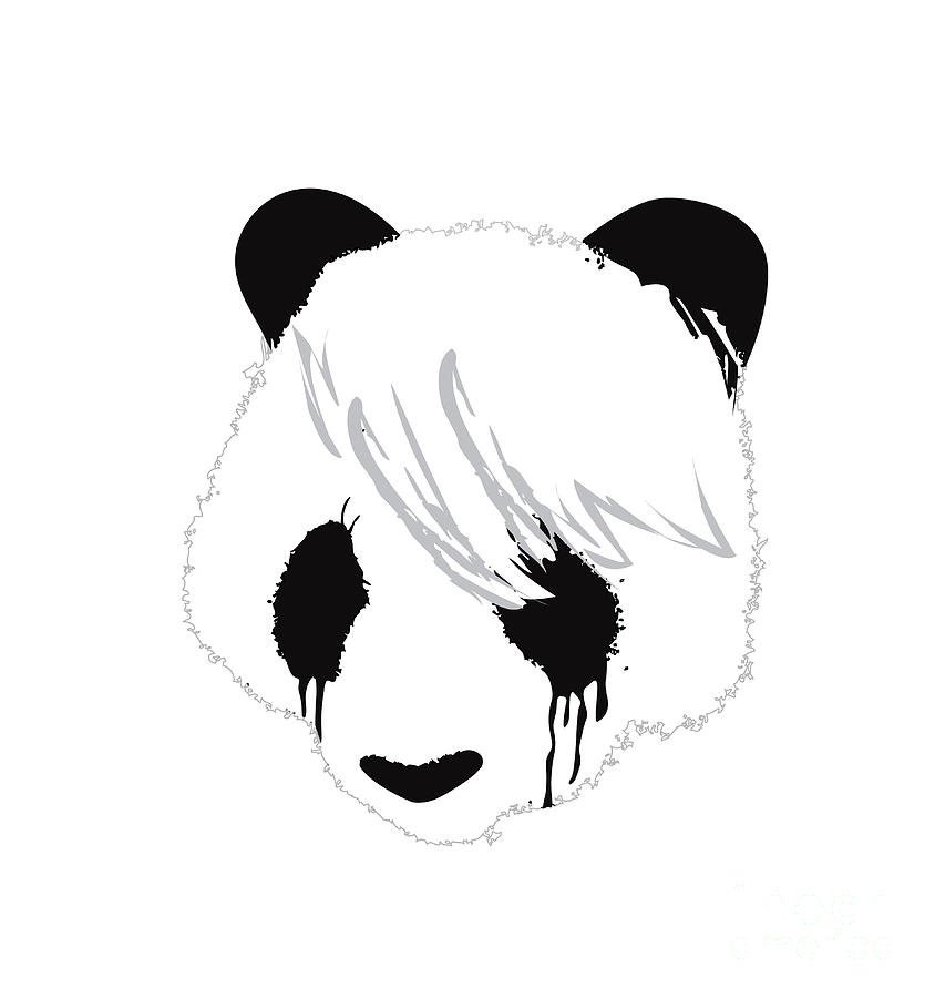 The Sad Panda Digital Art  - The Sad Panda Fine Art Print