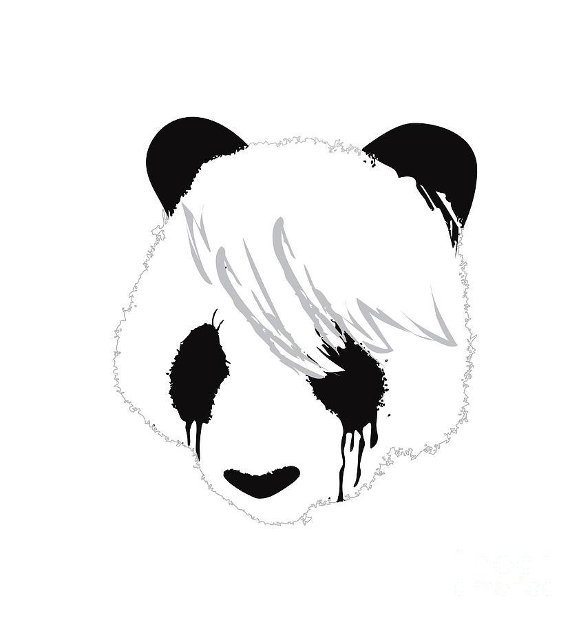 The Sad Panda Digital Art