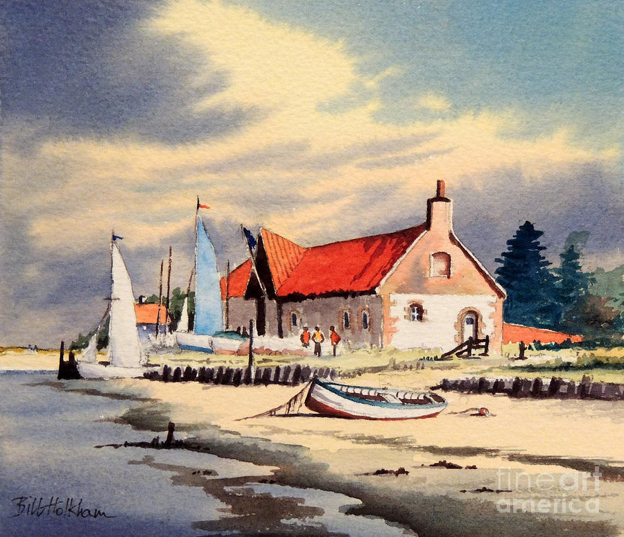 The Sailing Club Painting - The Sailing Club  by Bill Holkham