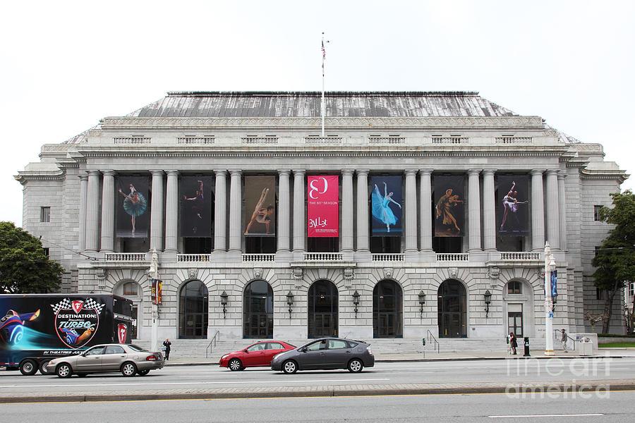San Francisco Photograph - The San Francisco War Memorial Opera House - San Francisco Ballet 5d22478 by Wingsdomain Art and Photography