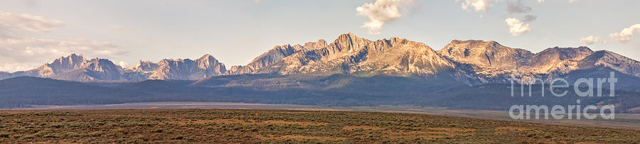 Rocky Mountains Photograph - The Sawtooths by Robert Bales