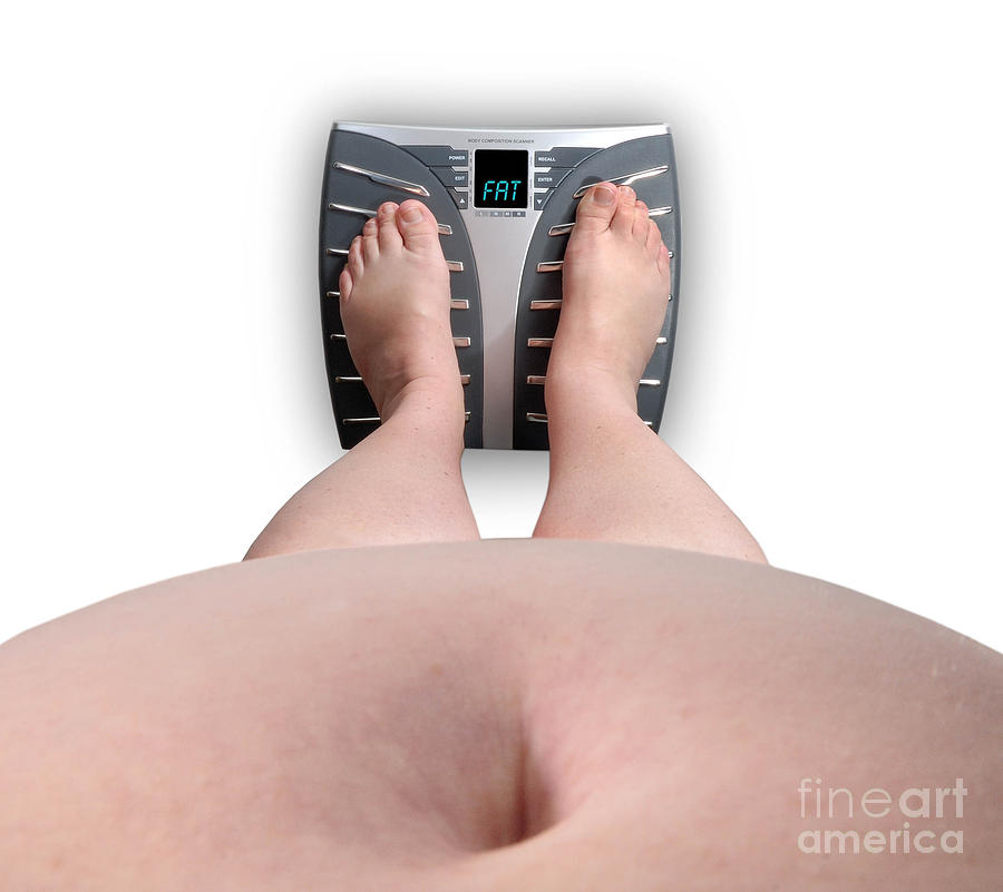 The Scale Says Series Fat Photograph