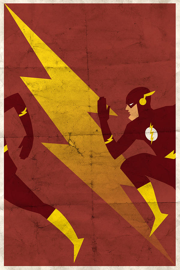 The Scarlet Speedster Digital Art  - The Scarlet Speedster Fine Art Print
