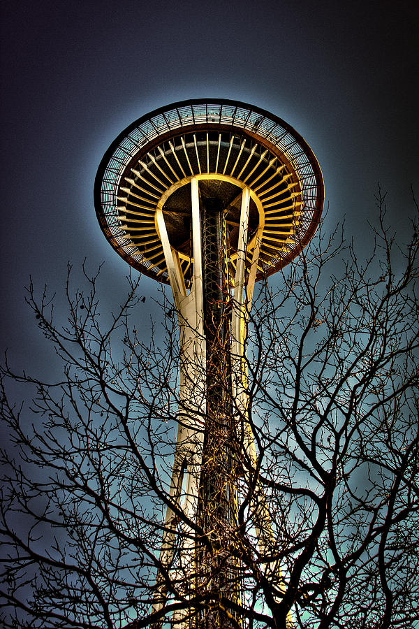 The Space Needle Photograph - The Seattle Space Needle Iv by David Patterson
