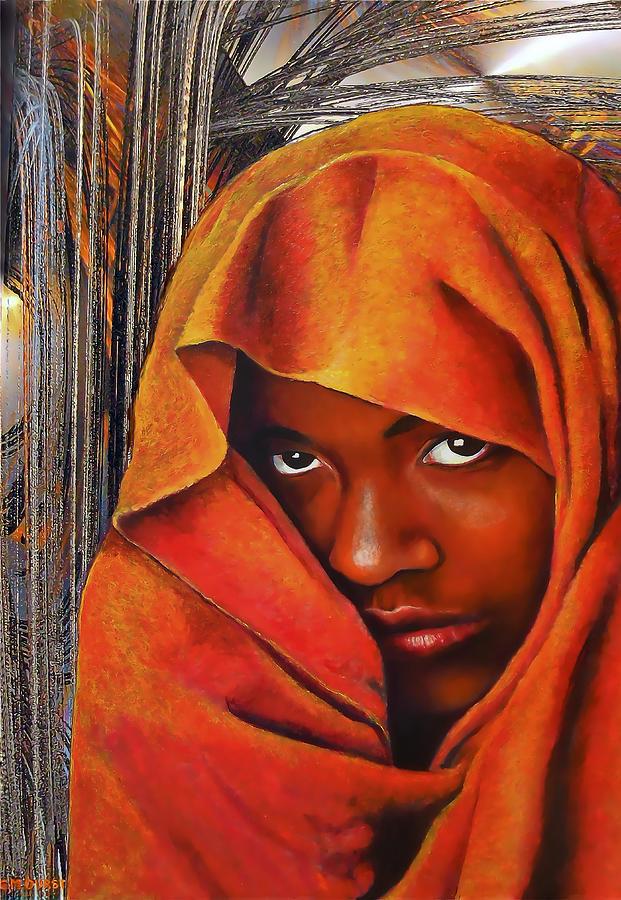 Woman Painting - The Secret by Michael Durst
