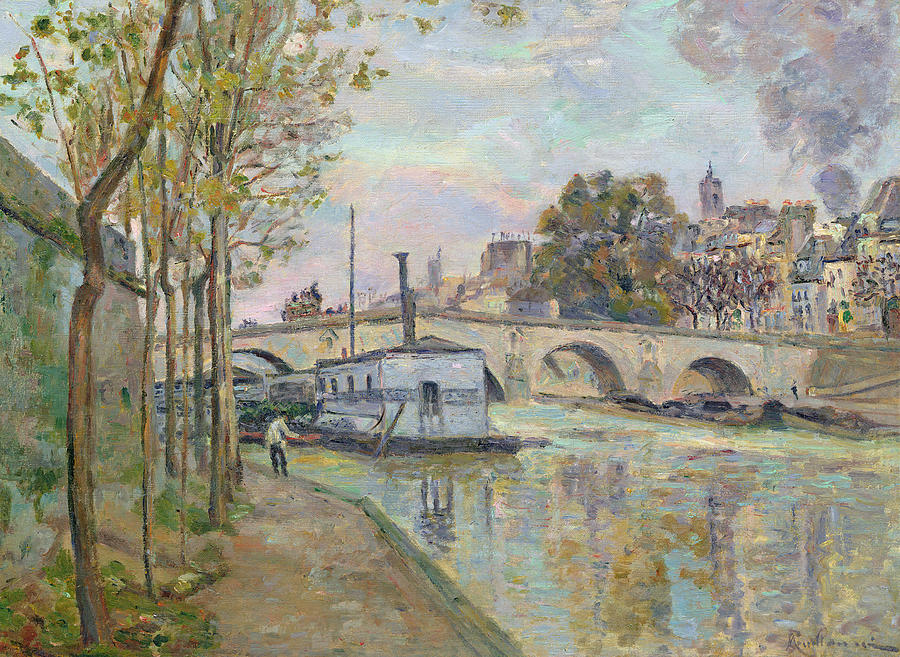 Painting - The Seine In Paris  by Jean Baptiste Armand Guillaumin