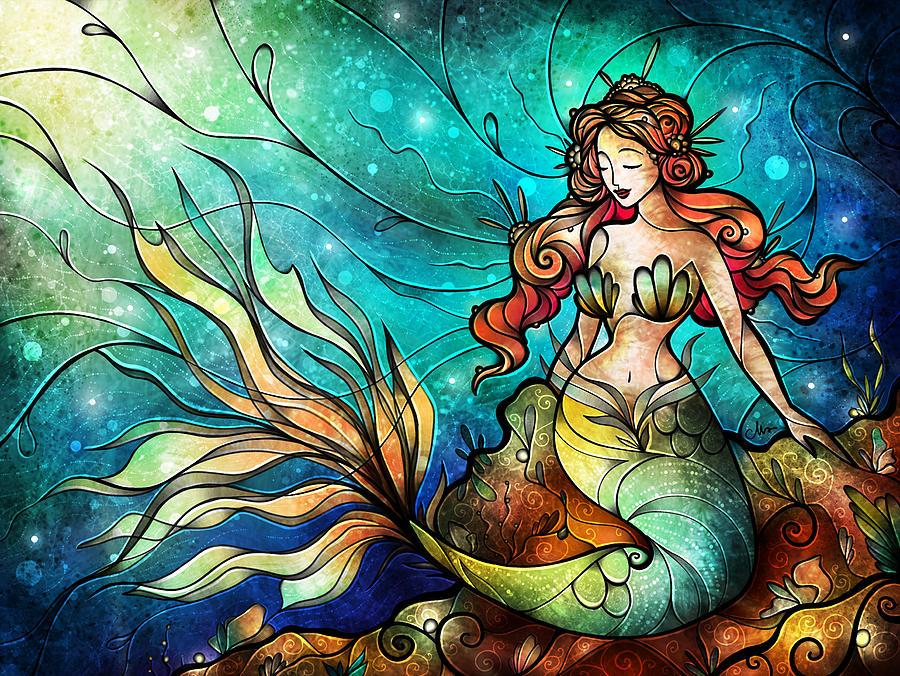 The Serene Siren Digital Art