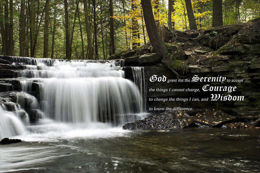 The Serenity Prayer Photograph  - The Serenity Prayer Fine Art Print