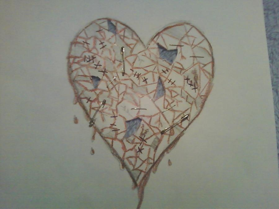 Shattered Heart Drawin...