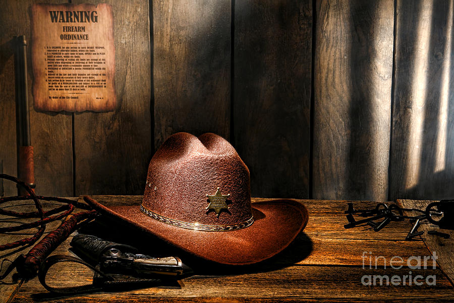 Sheriff Photograph - The Sheriff Office by Olivier Le Queinec